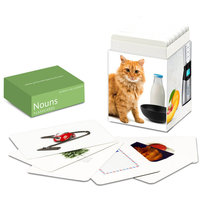 Nouns Cards In Front Cat