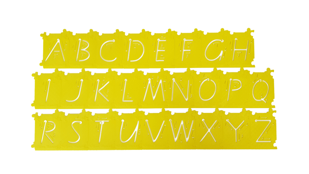 'Click n Connect' Upper Case Alphabet Stencils
