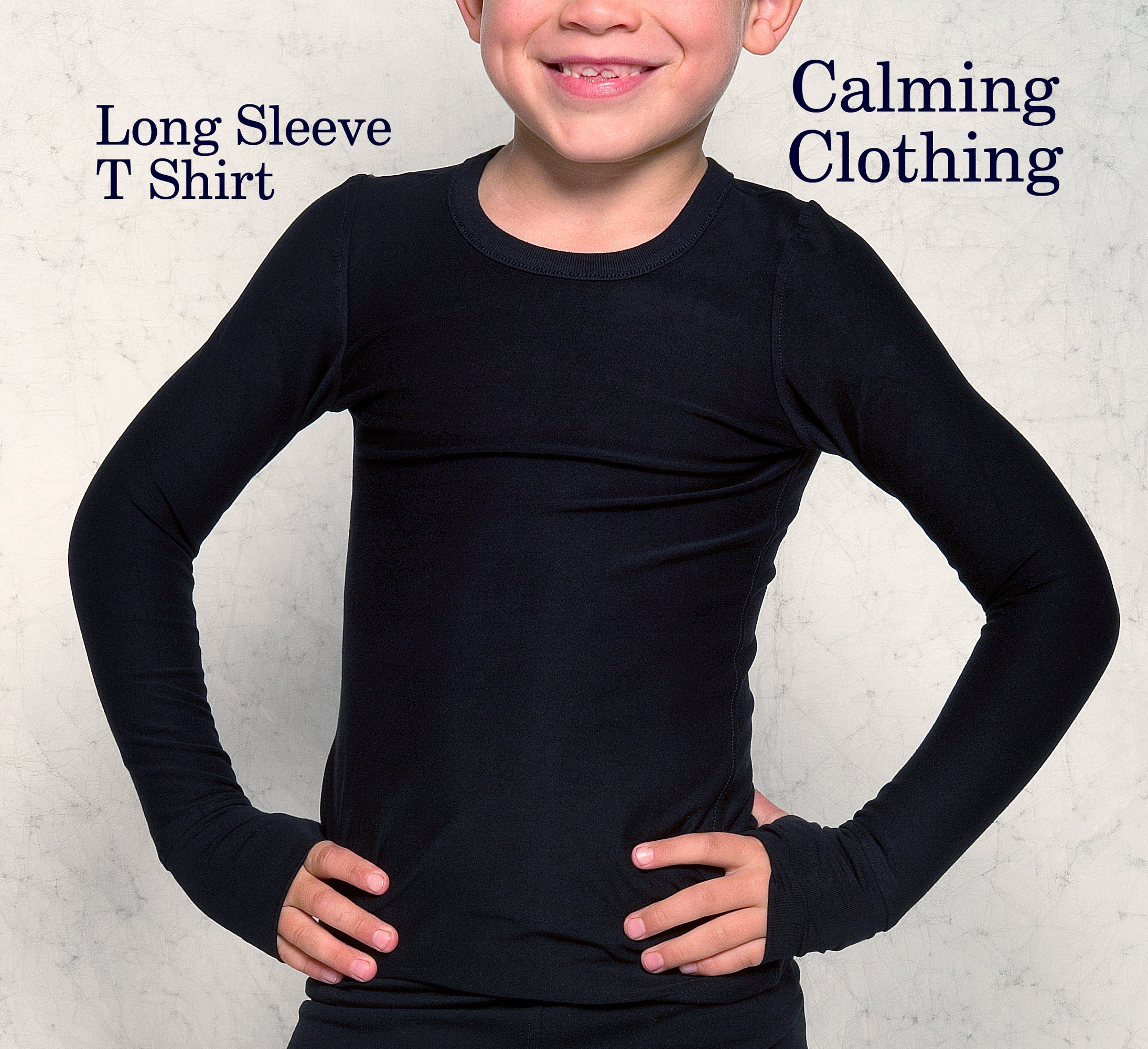 Calming Clothing Long Sleeve Tshirt (Black)