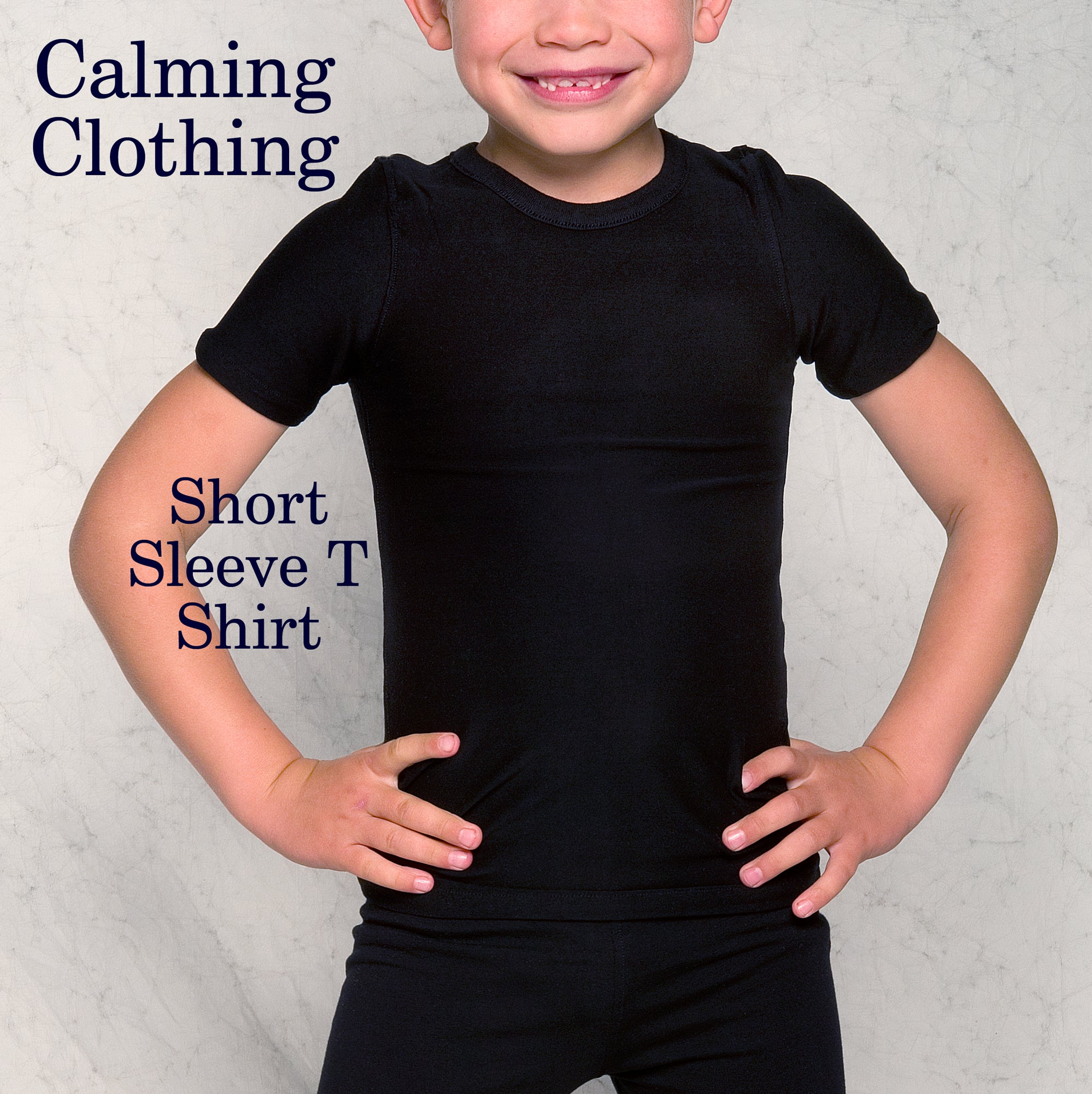 Calming Clothing Short Sleeve Tshirt (Black)