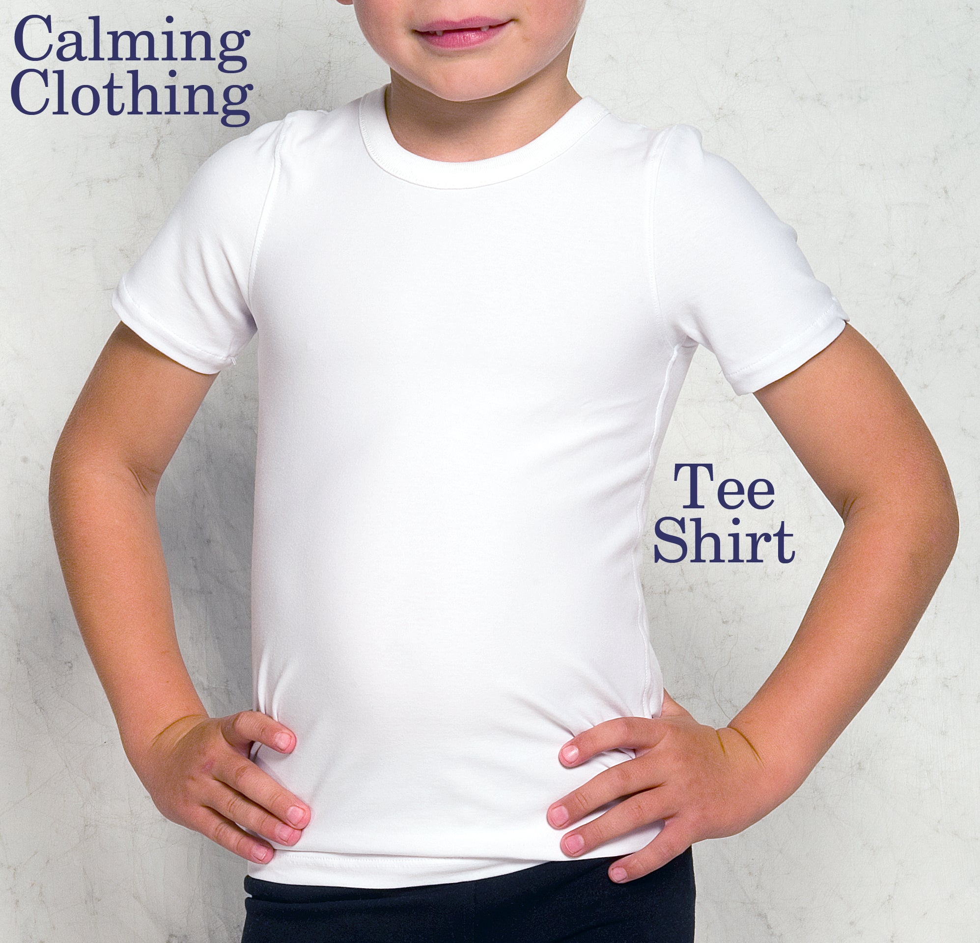 Calming Clothing Short Sleeve Tshirt (White)