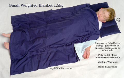 Weighted Blanket - Single bed size (blue on blue)