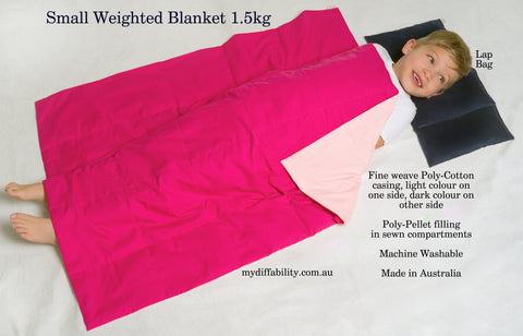 Weighted Blanket - Single bed size (pink on pink)