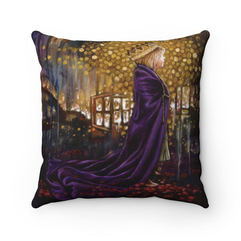Girl in the Robe - Square Pillow