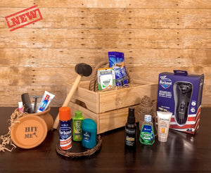 Gentleman's Grooming Box - XY Cave The Best Perfect Gift Box For Your Guy Man Men Father Son Brother Husband Dad Father Original Gift Experience Unboxing Fun Gift For Men Present Marijuana Lovers BBQ Grill lovers Adventure lovers Technology Tech Lovers Wine lovers Travel gifts gifts for guys incredible funny break a jar with a hummer exciting gift