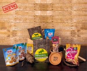 Snacks & Jerky Box - XY Cave The Best Perfect Gift Box For Your Guy Man Men Father Son Brother Husband Dad Father Original Gift Experience Unboxing Fun Gift For Men Present Marijuana Lovers BBQ Grill lovers Adventure lovers Technology Tech Lovers Wine lovers Travel gifts gifts for guys incredible funny break a jar with a hummer exciting gift
