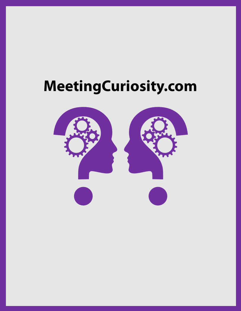 Meeting Curiosity book cover by Gerald Haman