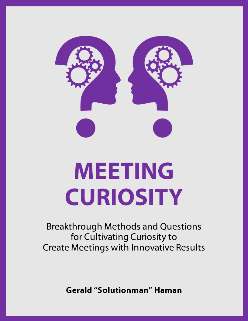 Meeting Curiosity book cover by Gerald Haman, Solutionman