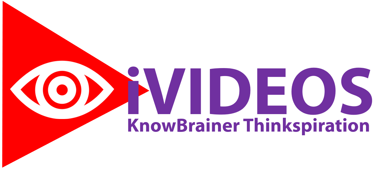 iVIDEOS KnowBrainer Thinkspiration w Eye Logo