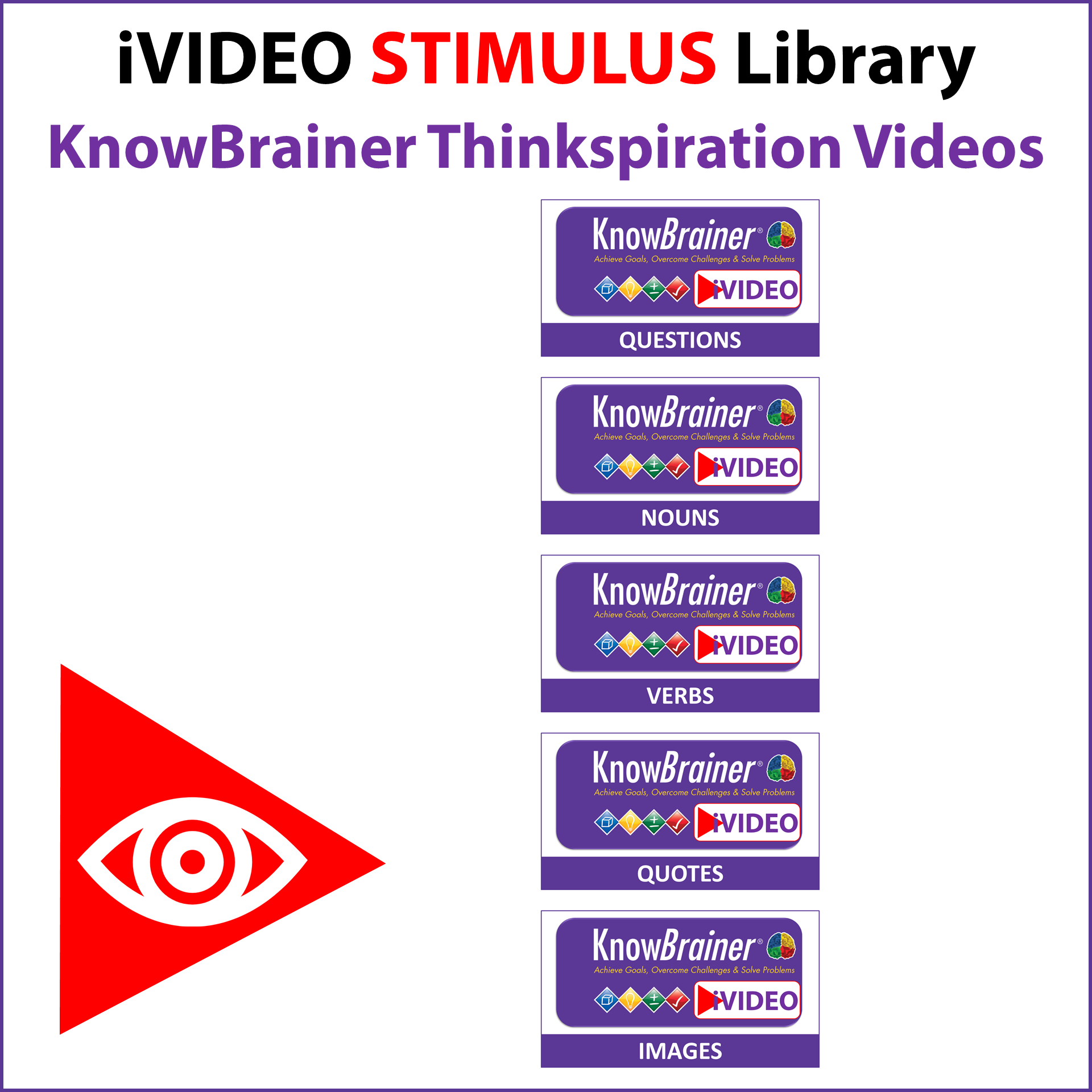iVIDEO STIMULUS Library KnowBrainer Thinkspiration Videos