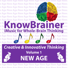 Load image into Gallery viewer, iMUSIC™ KnowBrainer NEW AGE Album of 4 MP3 Songs (Volume 1 HQ Digital Download) - SOLUTIONSpeopleSTORE