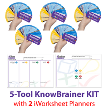 Load image into Gallery viewer, KnowBrainer 5-Tool KIT + 2 iWorksheet Planners - SOLUTIONSpeopleSTORE