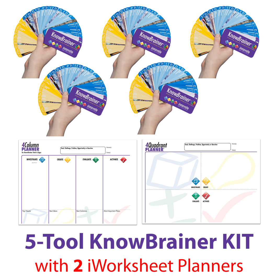 KnowBrainer 5-Tool KIT + 2 iWorksheet Planners - SOLUTIONSpeopleSTORE