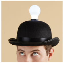 Load image into Gallery viewer, Lightbulb Bowler Hat that Lights Up a Room! - SOLUTIONSpeopleSTORE