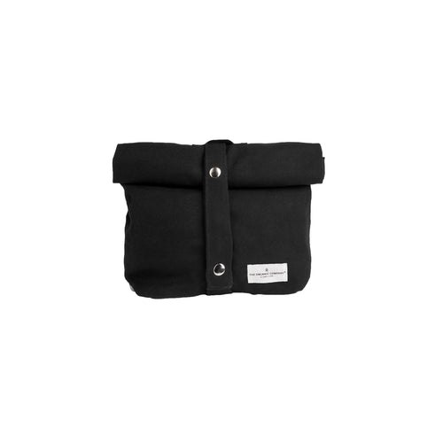 Luxury ethical organic cotton lunch bag for adults and kids. Black