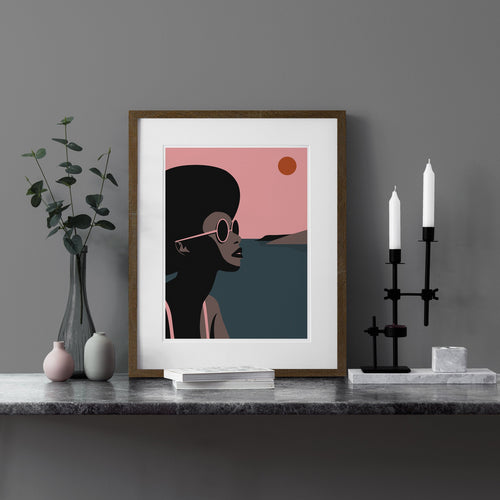 Keeler & Sidaway Art Print - Stylish Modern Illustration Contemporary Wall Art & Graphic Art Prints. Summer Time