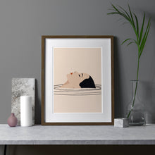 Load image into Gallery viewer, Keeler & Sidaway Art Print - Stylish Modern Illustration Contemporary Wall Art & Graphic Art Prints. Relax