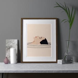 Keeler & Sidaway Art Print - Stylish Modern Illustration Contemporary Wall Art & Graphic Art Prints. Relax