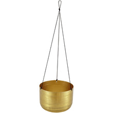 Load image into Gallery viewer, Hanging Brass Planter - Plant Pot Stand