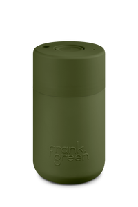 Frank Green Reusable Travel Cup - Reusable Stylish Travel Coffee Mug Khaki