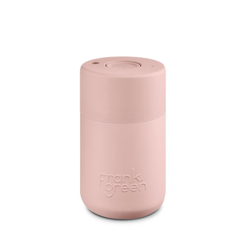 Frank Green Reusable Travel Cup - Reusable Stylish Travel Coffee Mug Nude Rose