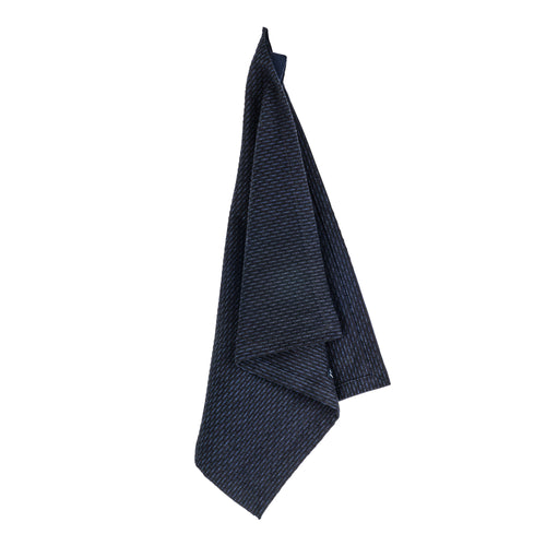 Luxury organic cotton cloth, for use as kitchen towel, face cloth, wash cloth or hand towel. Dark Blue