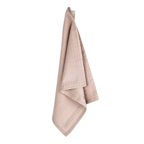 Luxury organic cotton cloth, for use as kitchen towel, face cloth, wash cloth or hand towel. Stone Rose Pink