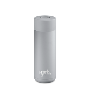 Frank Green Reusable Water Bottle, stylish, reusable and eco friendly. Leak proof, stainless steel water bottle. Harbour Mist Grey