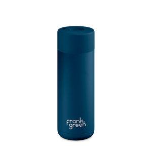 Frank Green Reusable Water Bottle, stylish, reusable and eco friendly. Leak proof, stainless steel water bottle. Sailor Blue