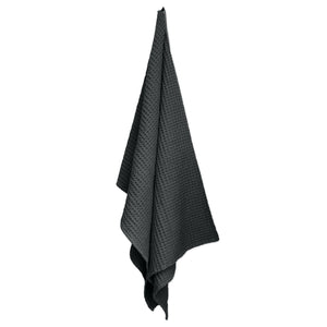 Luxury organic cotton towel and blanket from The Organic Company. Dark Grey