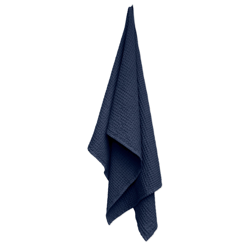 Luxury organic cotton towel and blanket from The Organic Company. Dark Blue
