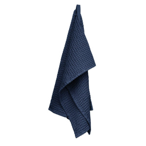 Luxury organic cotton hand towel from The Organic Company. Dark Blue