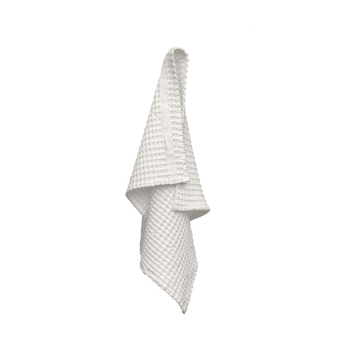 Luxury organic cotton hand towel from The Organic Company. Natural White