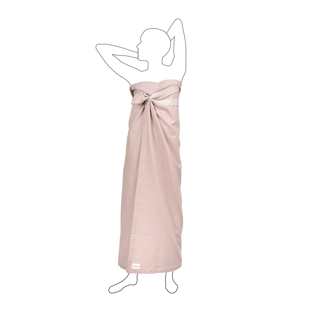 Luxury organic cotton towel, sustainable sarong wrap and beach cover up. Stone Rose Pink
