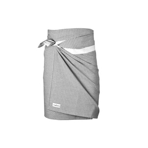 Luxury organic cotton towel, sustainable sarong wrap and beach cover up. morning grey