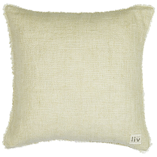 Linen Cushion Cover - Handmade Luxury Fairly Traded. Off White