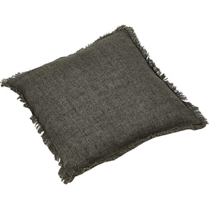 Linen Cushion Cover - Handmade Luxury Fair Traded Grey