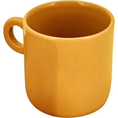 Ceramic espresso mugs, handmade using traditional methods by Vietnamese artisans. Mustard