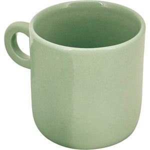 Ceramic espresso mugs, handmade using traditional methods by Vietnamese artisans. Pale Green