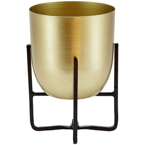 Brass + Black Planter - Plant Pot Stand