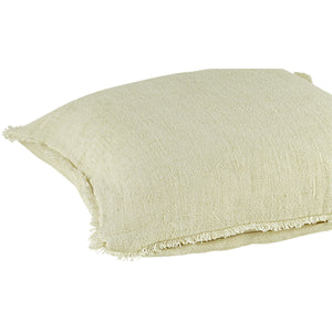 Linen Cushion Cover - Handmade Luxury Fairly Traded Off White