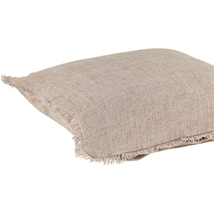Linen Cushion Cover - Handmade Luxury Fair Traded Pink