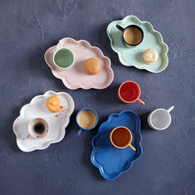 Load image into Gallery viewer, Ceramic Cloud Tray, handmade using traditional methods by Vietnamese artisans.