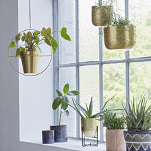 Load image into Gallery viewer, Hanging Brass Planter with Ring - Plant Pot Stand