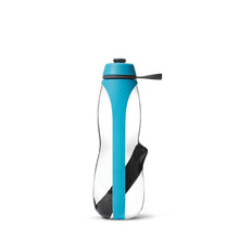 Load image into Gallery viewer, Eau Good Duo Water Bottle, with charcol filter and infuser. Reusable, BPA free and eco friendly water bottle. Blue