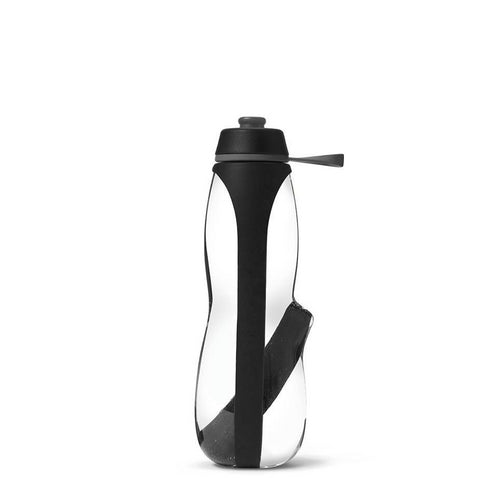 Eau Good Duo Water Bottle, with charcol filter and infuser. Reusable, BPA free and eco friendly water bottle. Black