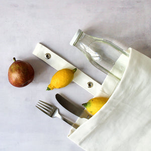 Luxury ethical organic cotton lunch bag for adults and kids.  + fragrance
