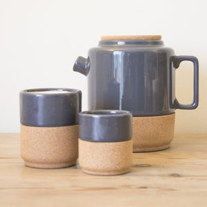 Contemporary design, modern decorative tea and coffe mugs. Eco friendly tea and handmade. Storm Grey