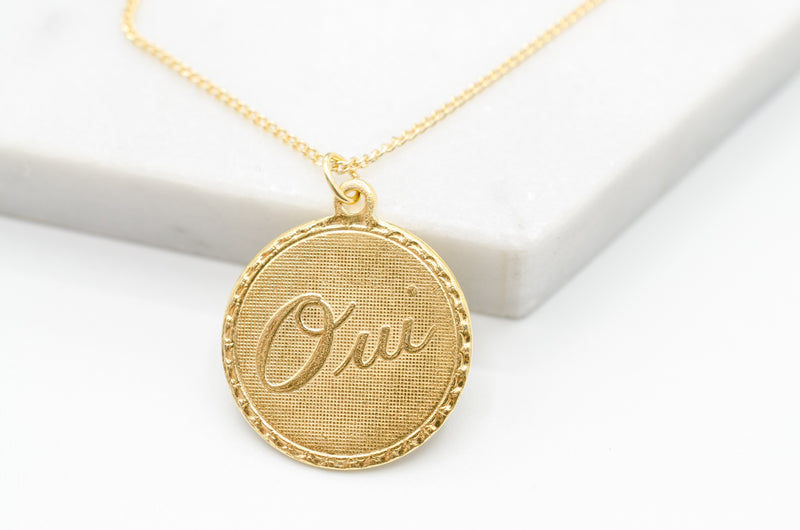 "Necklace ""OUI"""