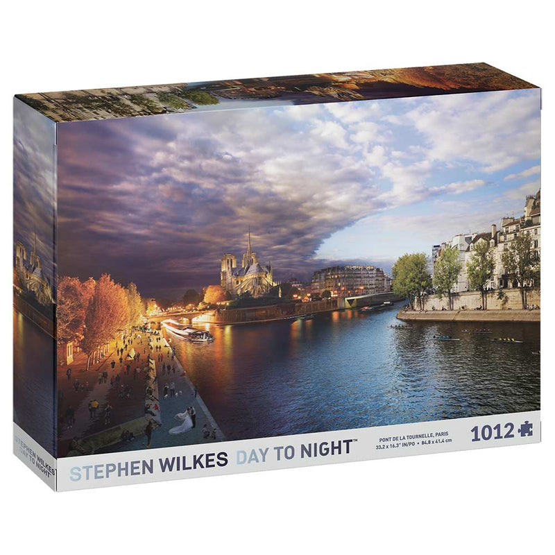 Stephen Wilkes - Paris Pont de Tournelle Day-To-Night 1012-Piece Jigsaw Puzzle - The Reading Nook